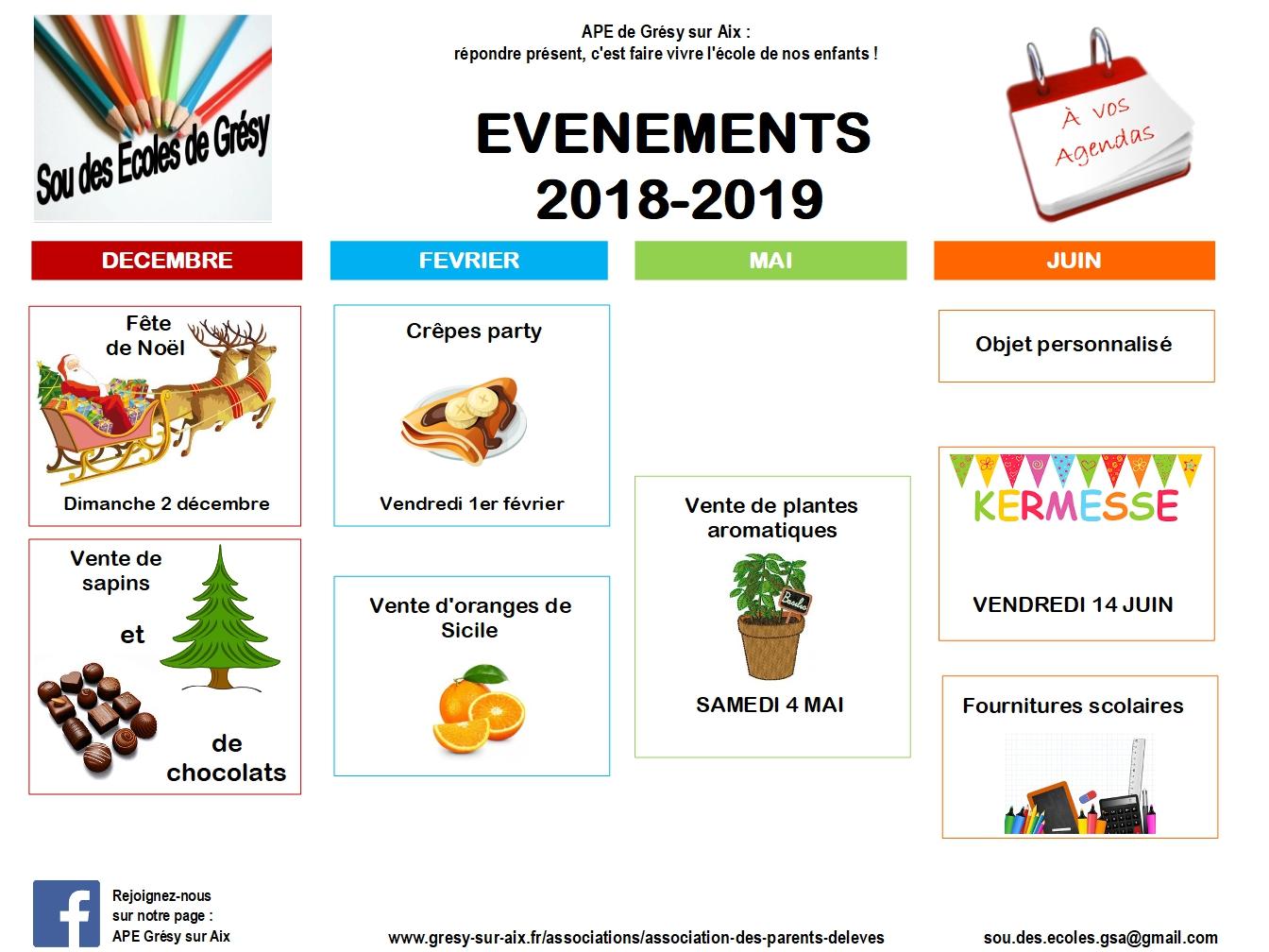association des parents d'élèves de grésy sur aix agenda 2018 2019