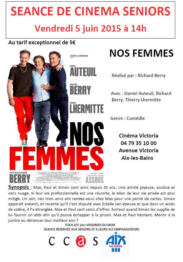 Séance de cinéma séniors le 5 juin prochain !