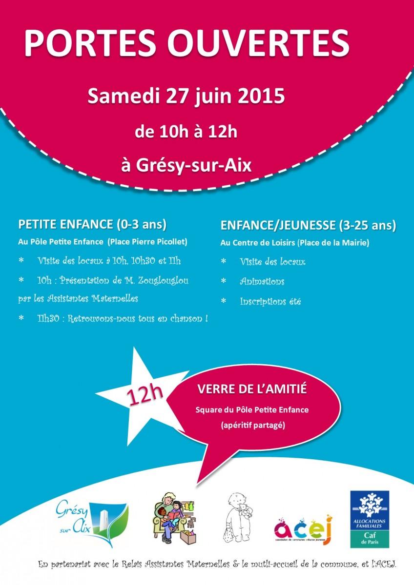 Portes ouvertes des structures petite-enfance / enfance / jeunesse de Grésy-sur-Aix !