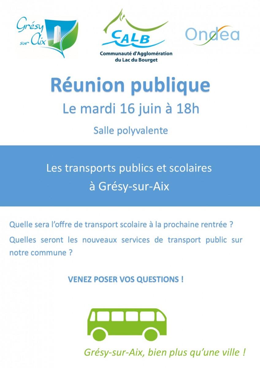 Réunion publique sur les transports à Grésy-sur-Aix