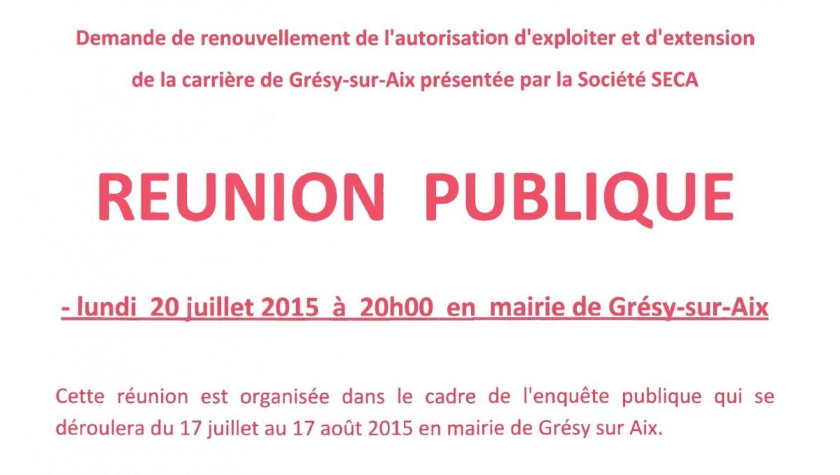 Réunion publique le 20 juillet 2015