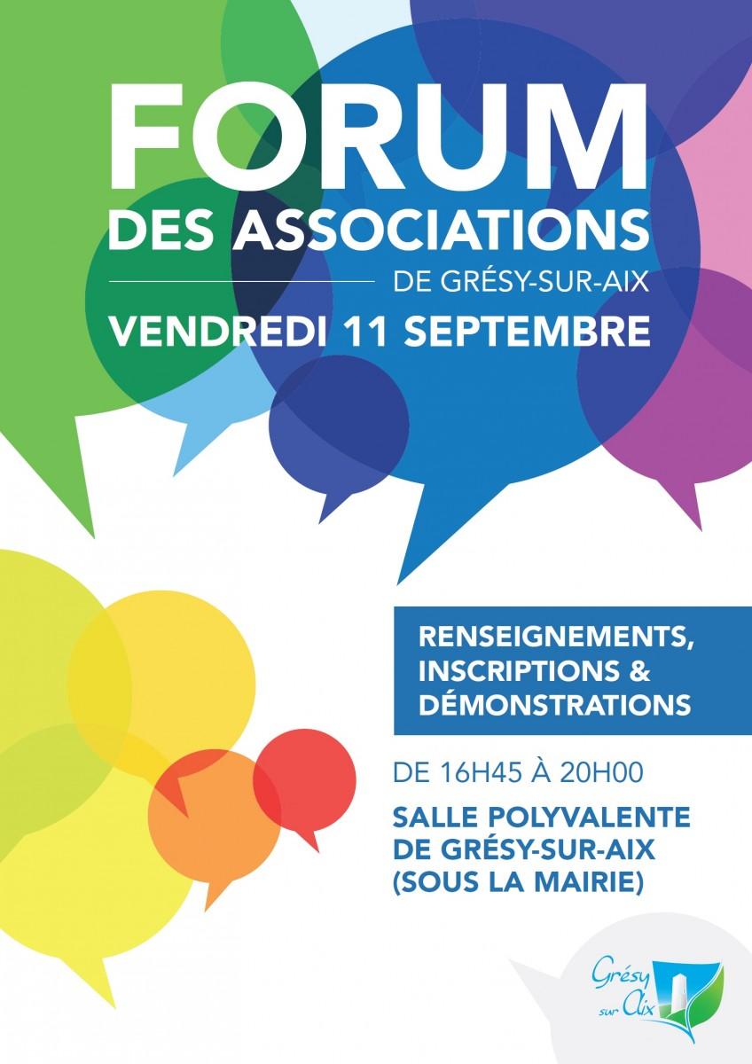 Tous au forum des associations !