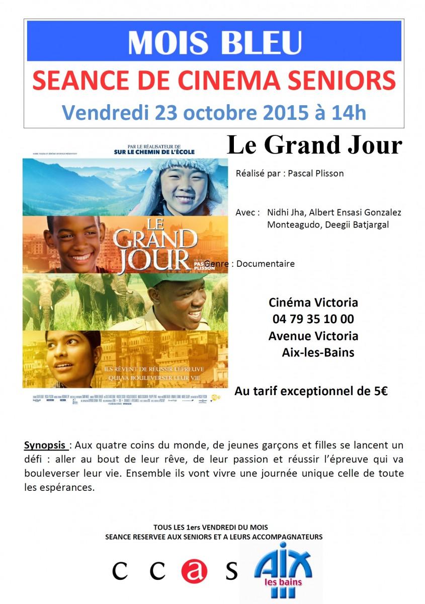 Séance de cinéma pour les Séniors le 23 octobre !
