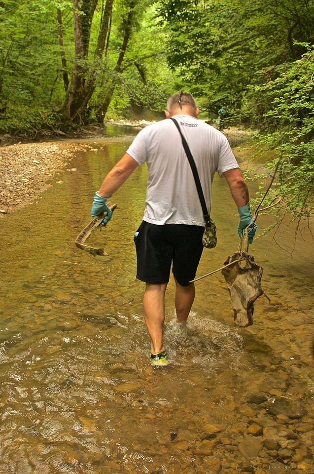 opération de nettoyage des gorges du Sierroz  le 16 juin à 7h30