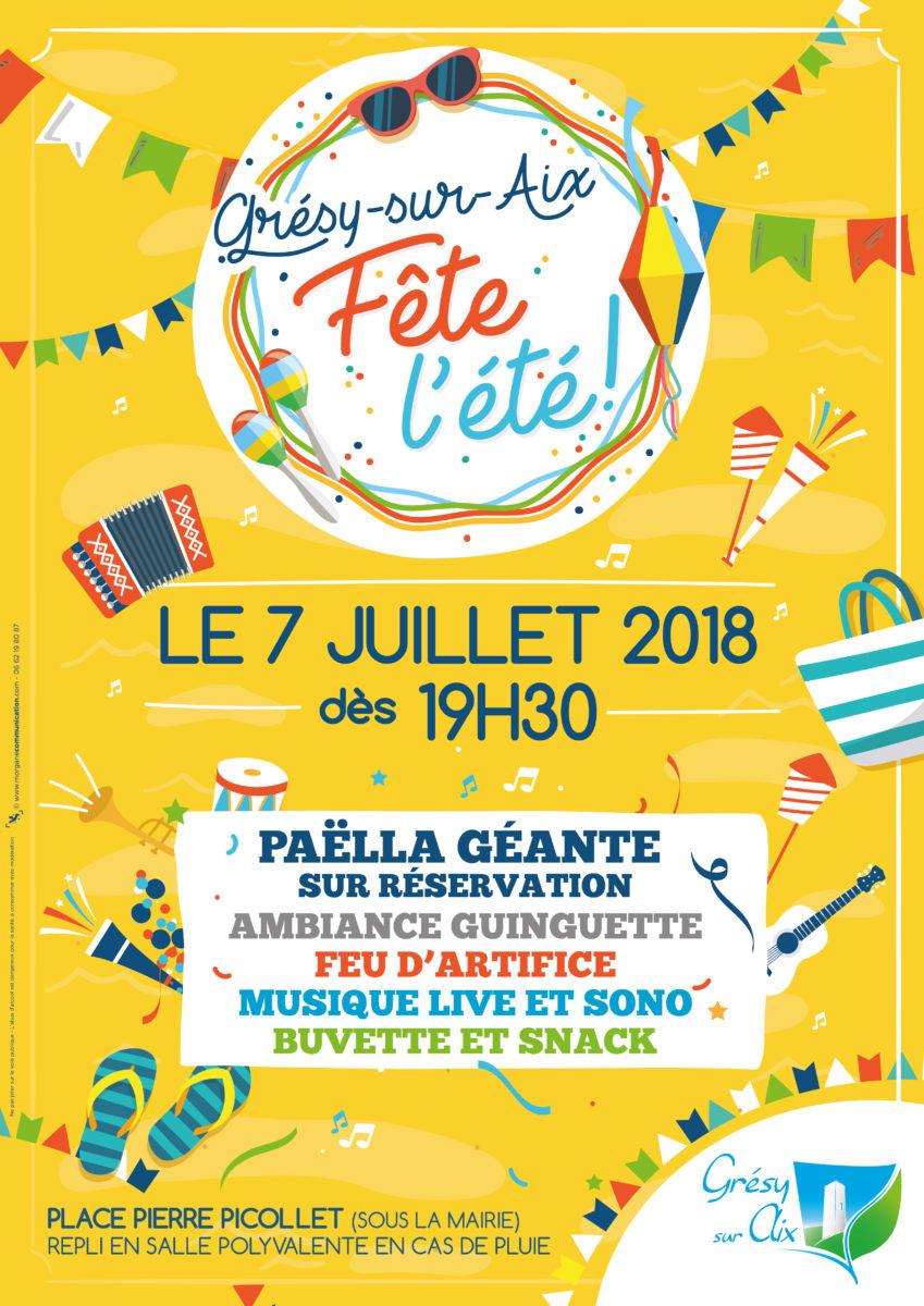 Grésy fête l'été le 7 juillet dès 19h30 !!!