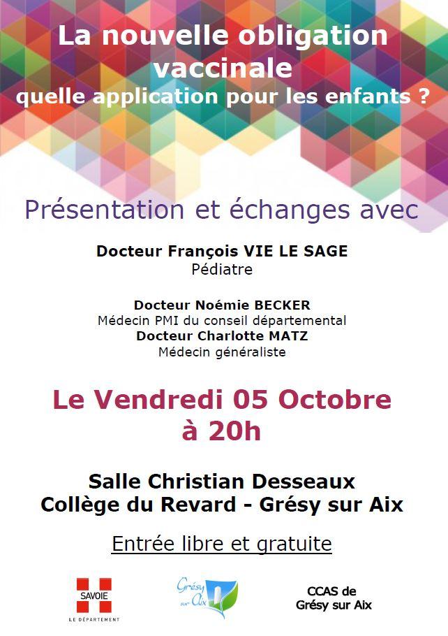 Présentation et échange : Nouvelle obligation vaccinale 05 Octobre à 20h00