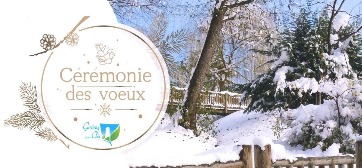 Cérémonie des vœux du Maire le Vendredi 11 janvier