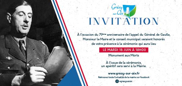 79eme anniversaire de l'appel du Général de Gaulle
