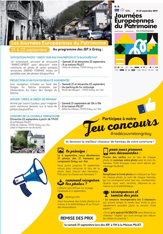 Journées Européennes du Patrimoine 21 et 22 septembre