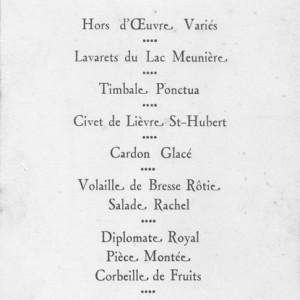 Un repas festif en 1926...