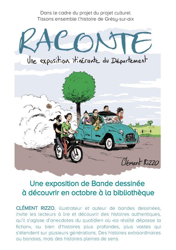 «Raconte» – Exposition à la bibliothèque