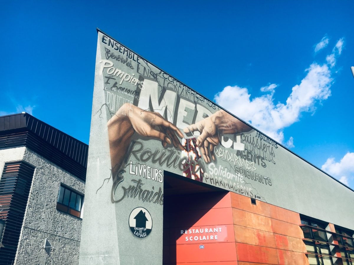 Une fresque géante pour dire MERCI !