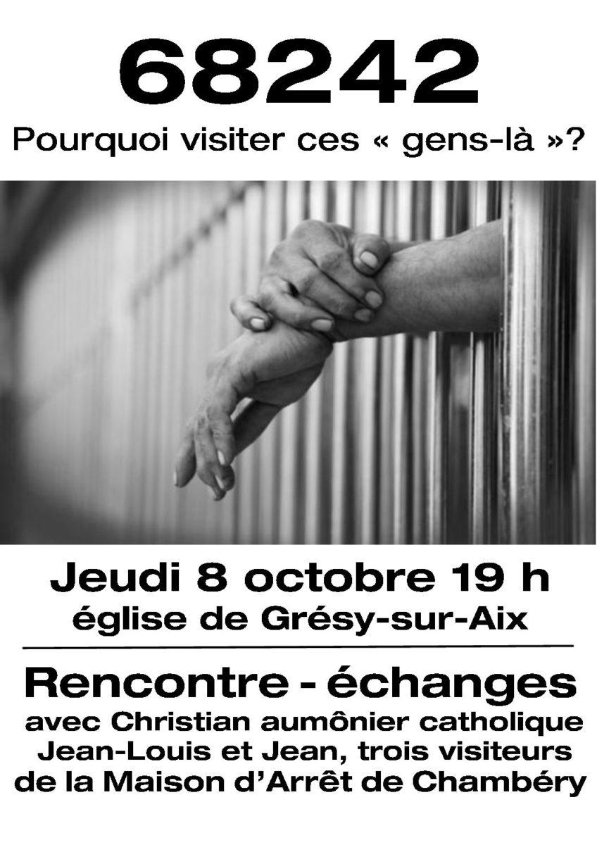 Témoignages de 3 visiteurs de prison bénévoles 8 octobre 19h