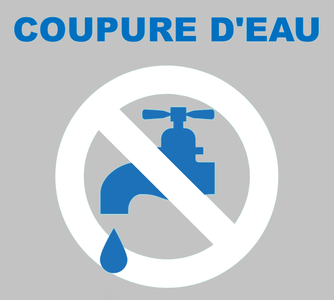 Coupure d'eau : le mardi 29 juin 2021